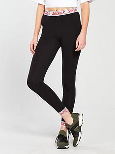 sik-silk-elastic-cuff-leggings-black