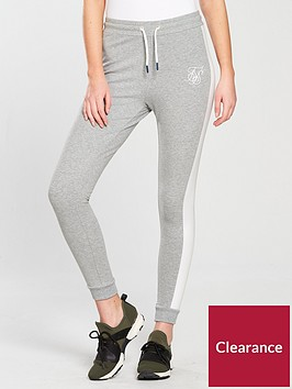 sik-silk-fitted-jogger-bottoms-grey-marl