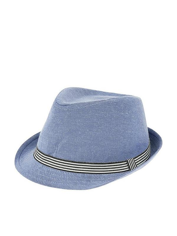 ad129d71070a02 Monsoon Denim Colourblock Trilby Hat | very.co.uk