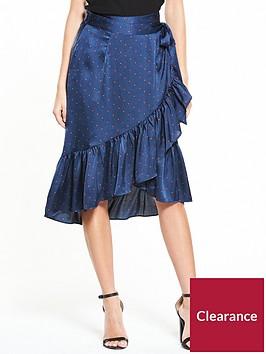 vero-moda-henna-satin-dot-wrap-skirt
