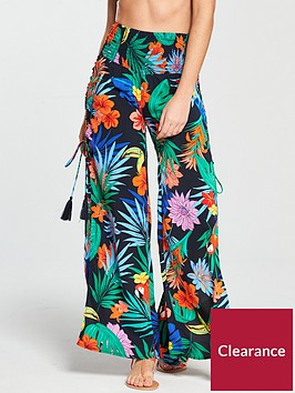 v-by-very-lace-up-side-beach-trousers-tropical-print