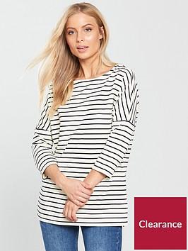 vero-moda-ulanbspthree-quarter-sleeve-top-stripe