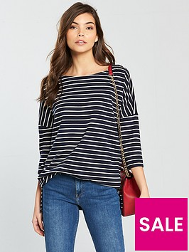 vero-moda-ula-34-sleeve-top-stripe-print
