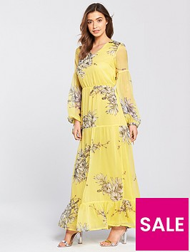 vero-moda-satina-long-sleeve-printed-maxi-dress