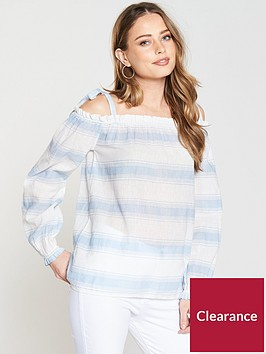 vero-moda-cerulean-cold-shoulder-top-whitebluenbsp
