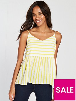 vero-moda-sunny-strappy-top-yellowwhite-stripe