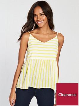 vero-moda-sunny-strappy-top-yellowwhite-stripe