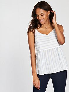 vero-moda-sunny-stripe-strappy-top-bluewhite
