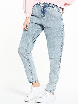 Noisy May Megan Loose Vintage Jeans - Light Blue Denim