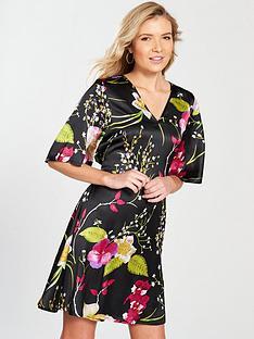 vero-moda-jessica-oriental-print-v-neck-dress-black