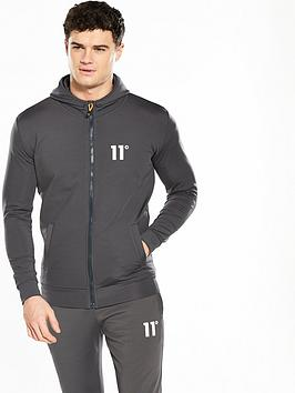11-degrees-poly-zip-hoody
