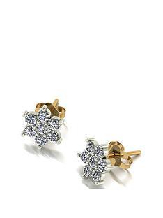 moissanite-9ct-gold-cluster-flower-cluster-earrings