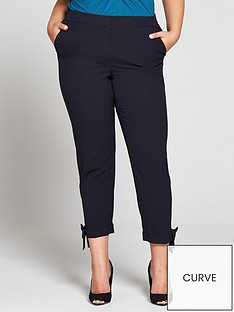 v-by-very-curve-bow-hem-trouser-navy