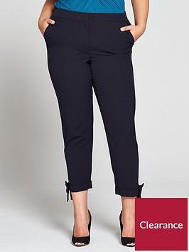 v-by-very-curve-bow-hem-trouser-navy