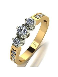 love-diamond-love-diamond-9ct-gold-50pts-total-3-stone-centre-diamond-trilogy-ring