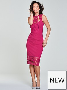 myleene-klass-lace-panel-pencil-dress-pinknbsp