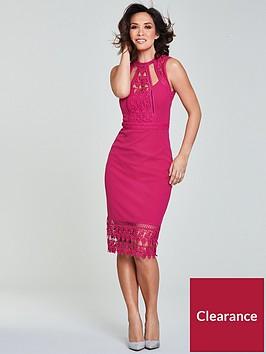 myleene-klass-lace-panel-pencil-dress-pinknbsp