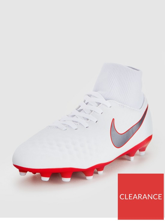 32c3ce3a635 Nike Junior Magista Obra 2 Academy Dynamic Fit Firm-Ground Football Boot -  White