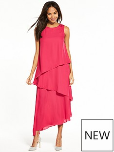 wallis-tiered-maxi-dress-pink