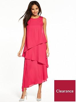 wallis-tiered-maxi-dress-pink