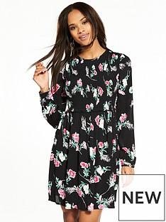 miss-selfridge-floral-sheered-smock-dress