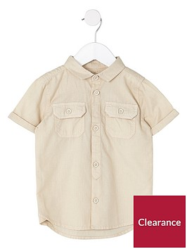 river-island-mini-boys-stone-short-sleeve-utility-shirt