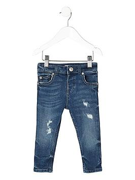 river-island-mini-boys-blue-distressed-sid-skinny-jeans