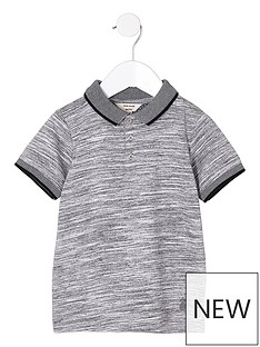 river-island-mini-mini-boys-grey-space-dye-polo-shirt