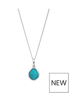 the-love-silver-collection-sterling-silver-organic-oval-turquoise-semi-precious-december-birthstone-pendant