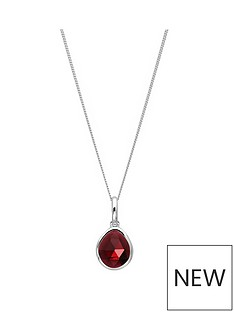 the-love-silver-collection-sterling-silver-garnet-semi-precious-january-birthstone-pendant