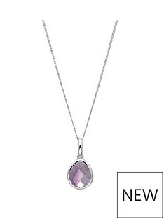 the-love-silver-collection-sterling-silver-amethyst-semi-precious-february-birthstone-pendant