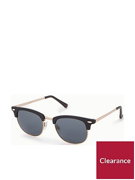 v-by-very-rubberised-frame-clubmaster-smoke-lens-sunglasses-blackgoldnbsp