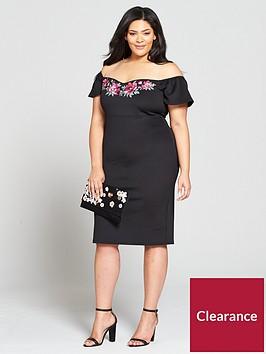 v-by-very-curve-embroidered-bardot-bodycon-dress