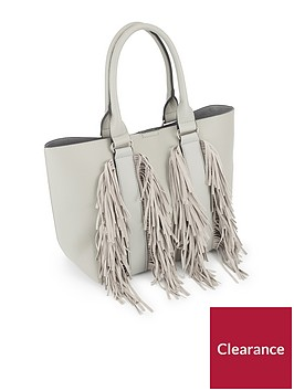 miss-selfridge-grey-fringe-tote-bag