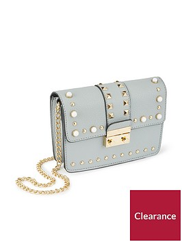 miss-selfridge-miss-selfridge-blue-elevated-stud-amp-pearl-crossbody-bag