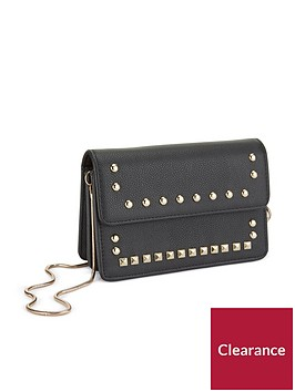 miss-selfridge-black-dome-crossbody-bag