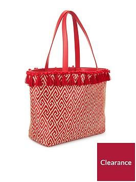 miss-selfridge-tassel-pop-tote-red