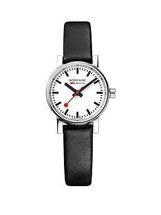 mondaine-evo2nbsp26mm-stainless-steel-case-white-dial-black-leather-strap-ladies-watch