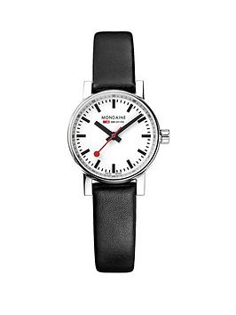 mondaine-evo2nbsp26mm-stainless-steel-case-white-dial-black-leather-strap-ladies-watch