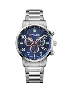 wenger-attitude-watch-blue-chronograph-dialnbsp44mm-stainless-steel-case-and-bracelet-mensnbspwatch