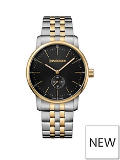 wenger-wenger-urban-classic-mens-watch-with-small-second-hand-black-dial-42mm-stainless-steel-pvd-gold-case-with-two-tone-pvd-bracelet