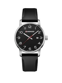 wenger-avenue-black-dialnbsp42mm-stainless-steel-case-and-black-silicone-strap-unisex-watch