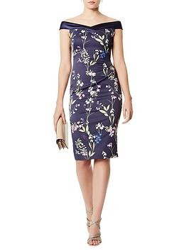 karen-millen-botanical-off-the-shoulder-pencil-dressnbsp--multicolour