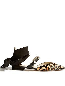 karen-millen-soft-tie-leopard-and-stud-flat-shoes-leopard