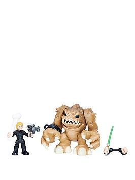 star-wars-galactic-heroes-luke-skywalker-and-rancor
