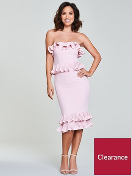 myleene-klass-pleated-detail-pencil-dress