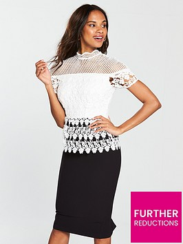 v-by-very-premium-lace-pencil-dress-blackwhite