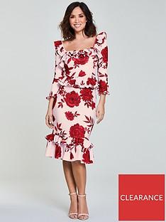 4168c17120b Myleene Klass Frill Pencil Dress - Print