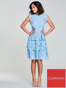 myleene-klass-lace-tiered-dress-bluenbsp