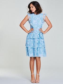 Myleene Klass Lace Tiered Dress - Blue